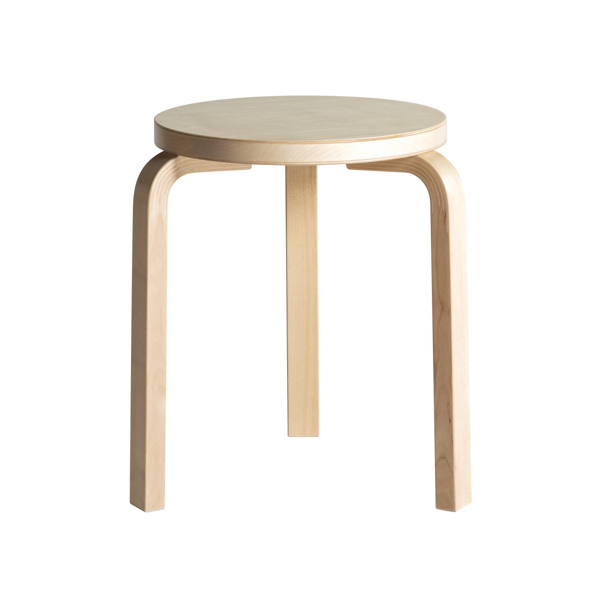 Stool 60 clear lacquer