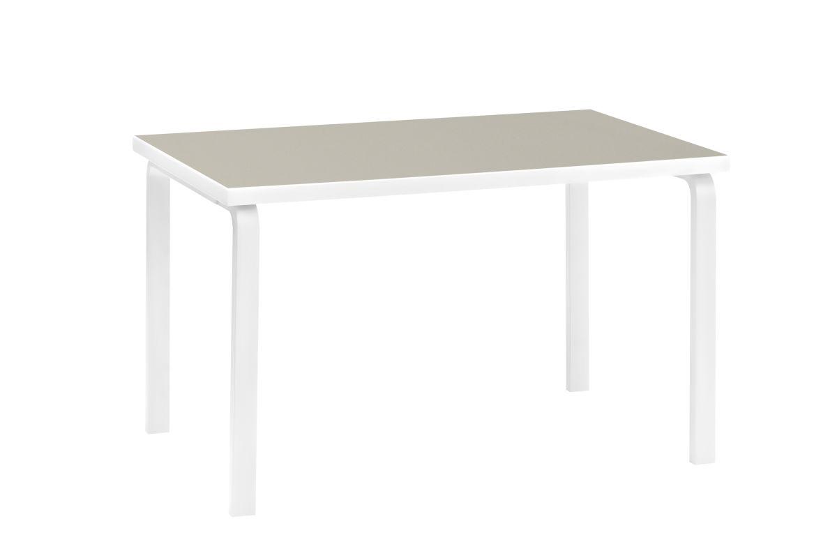 Aalto Table 81B Stone White Linoleum Pebble