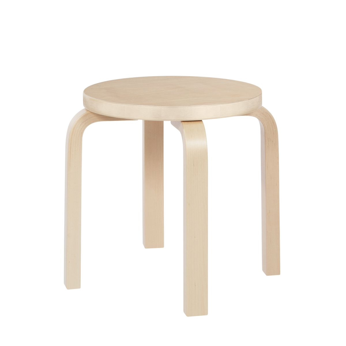Children's Stool NE60 natural lacquered birch