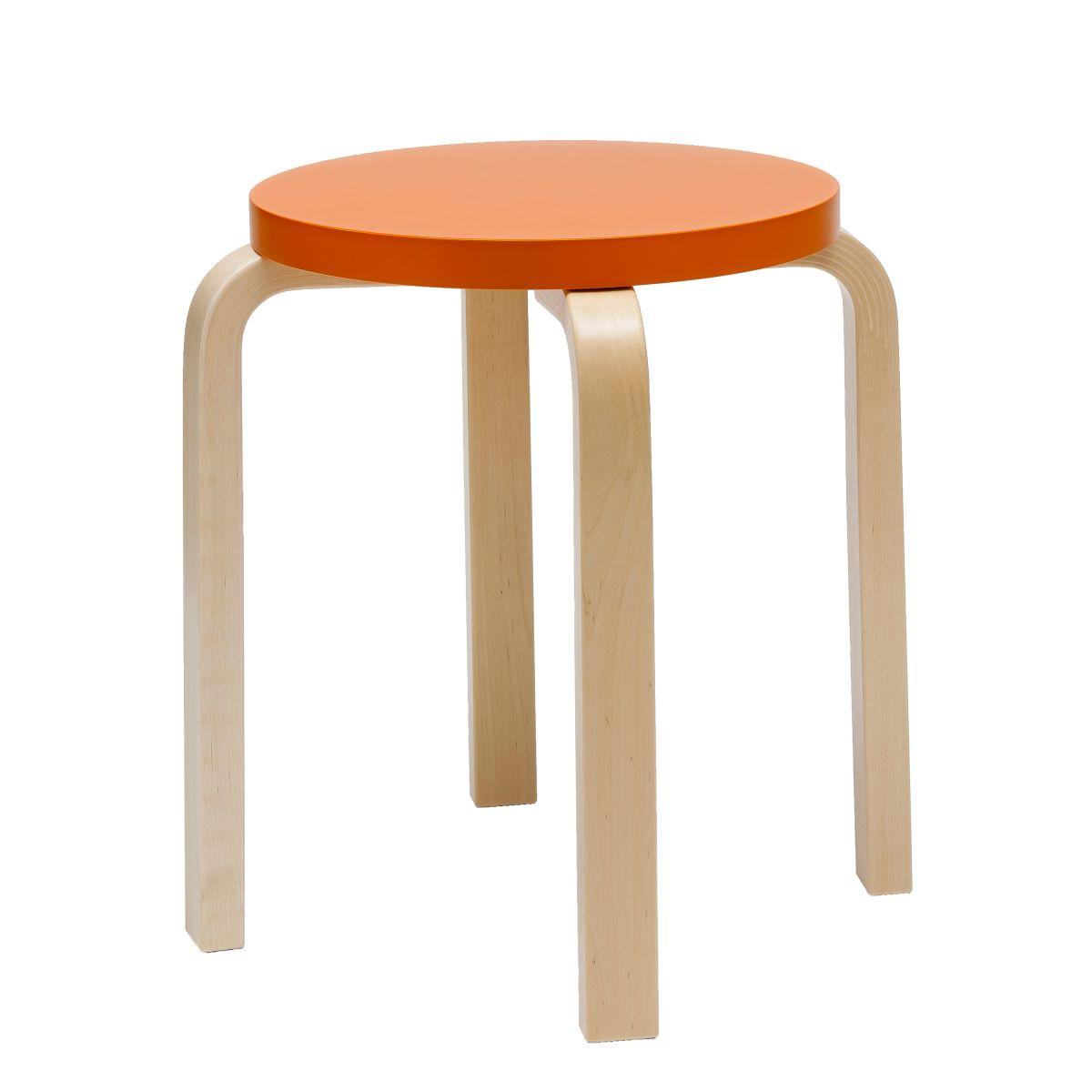 Stool E60 Paimio orange top