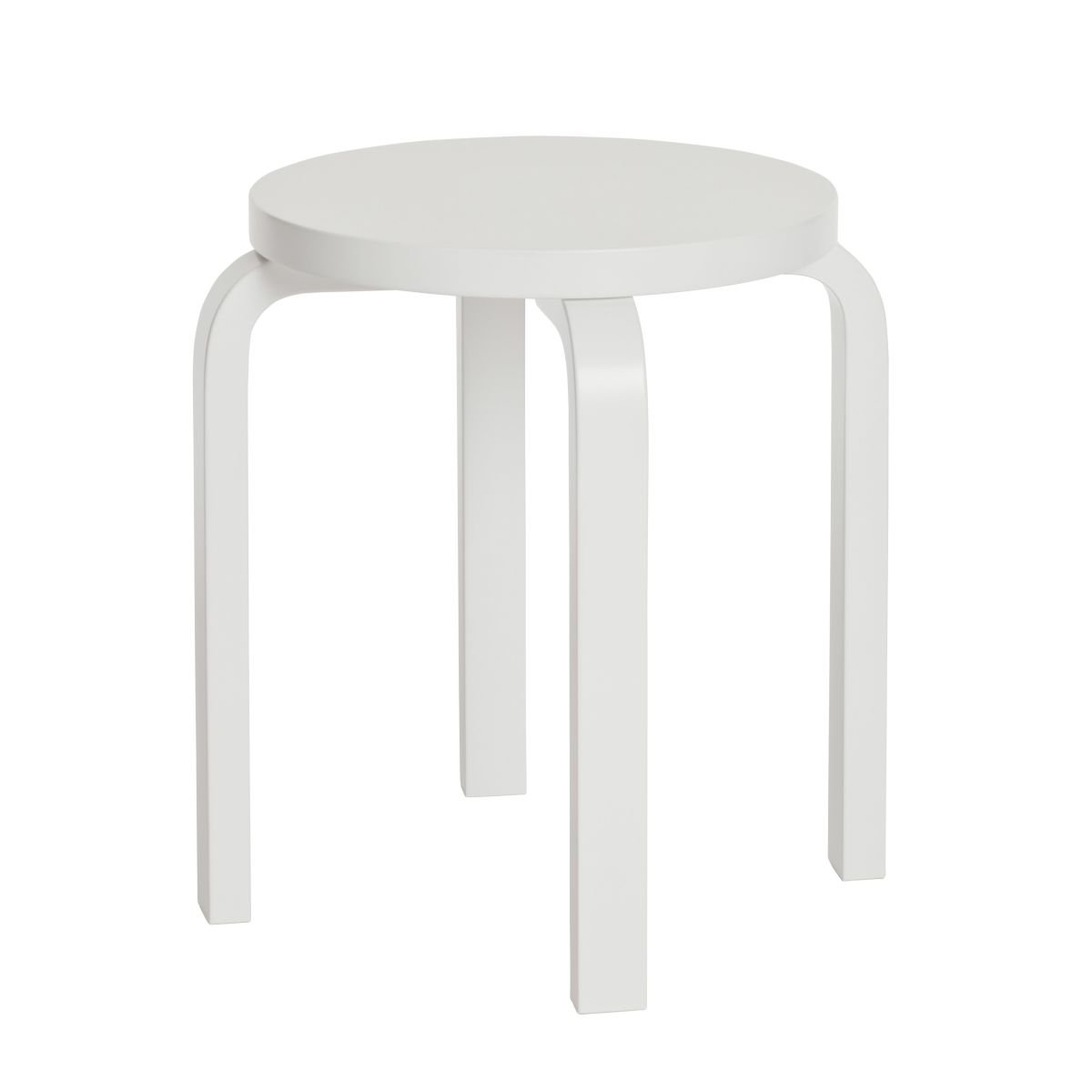 Stool E60 white lacquered