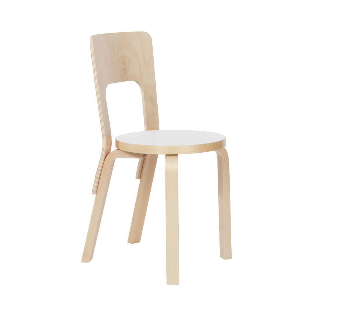 Chair 66 white laminate