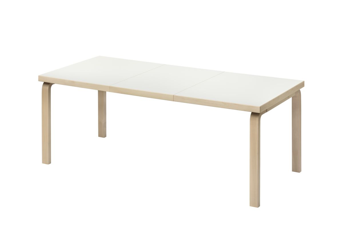 Aalto Table extendable 97 white laminate