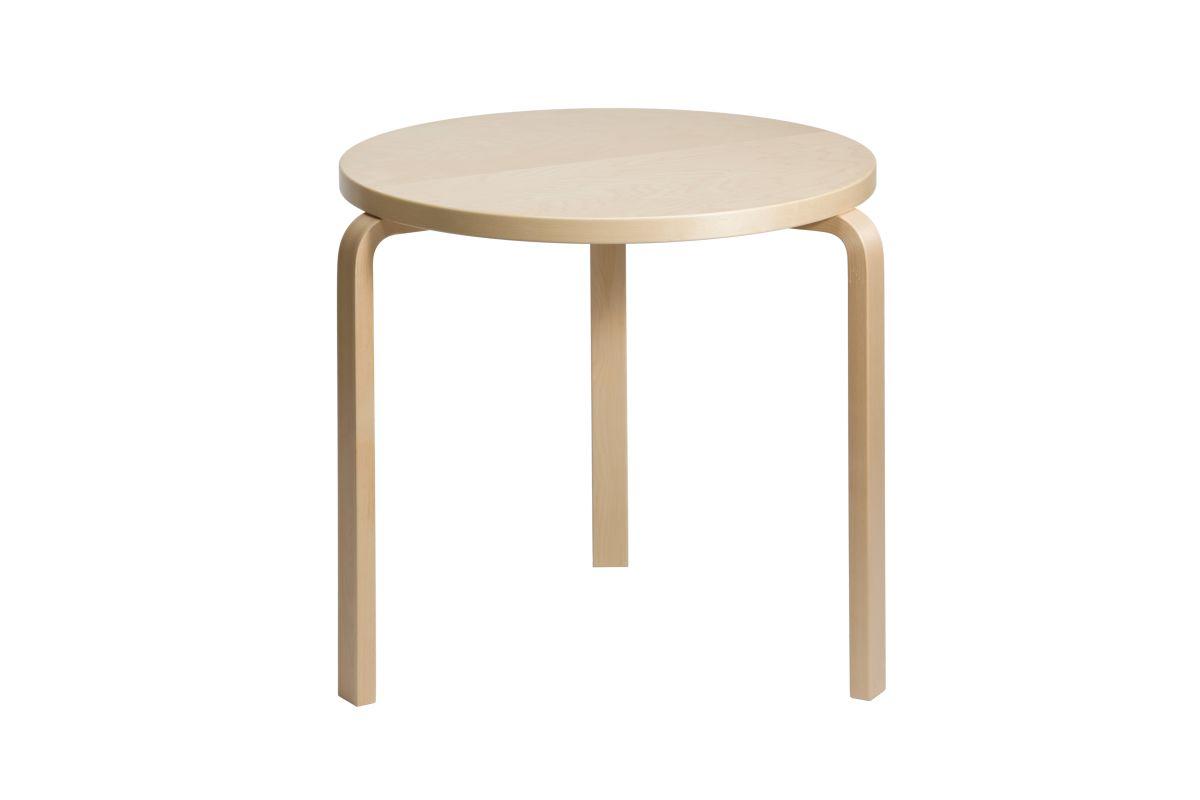 Aalto table round 90B birch 3