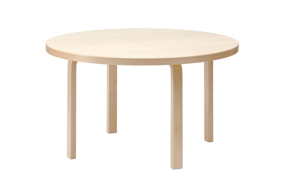 Aalto table round 91 birch