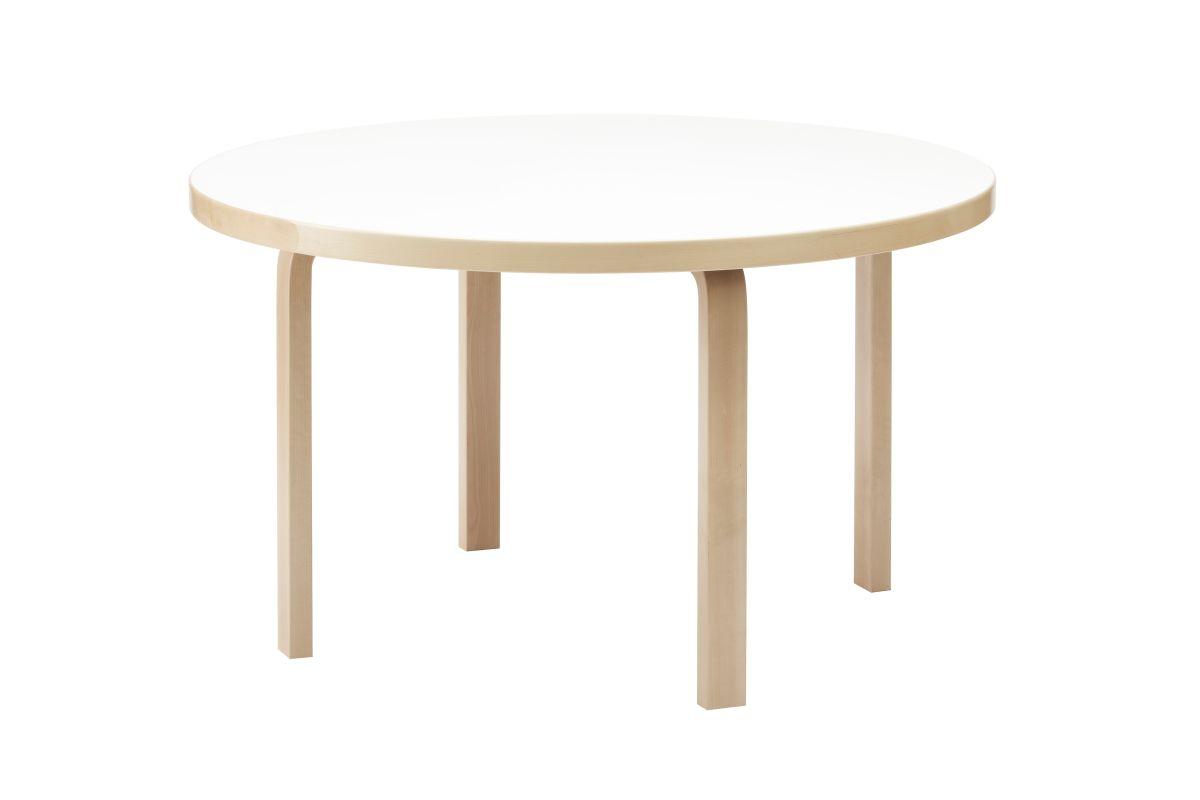 Aalto table round 91 white laminate
