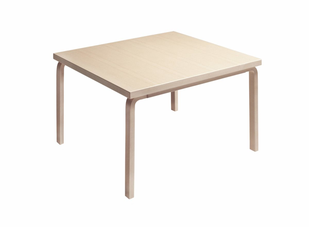 Aalto table rectangular 84 birch lacquered