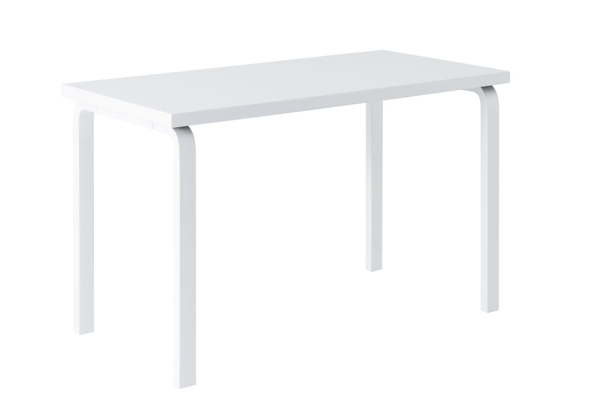 Aalto Table rectangular 80A white lacquer