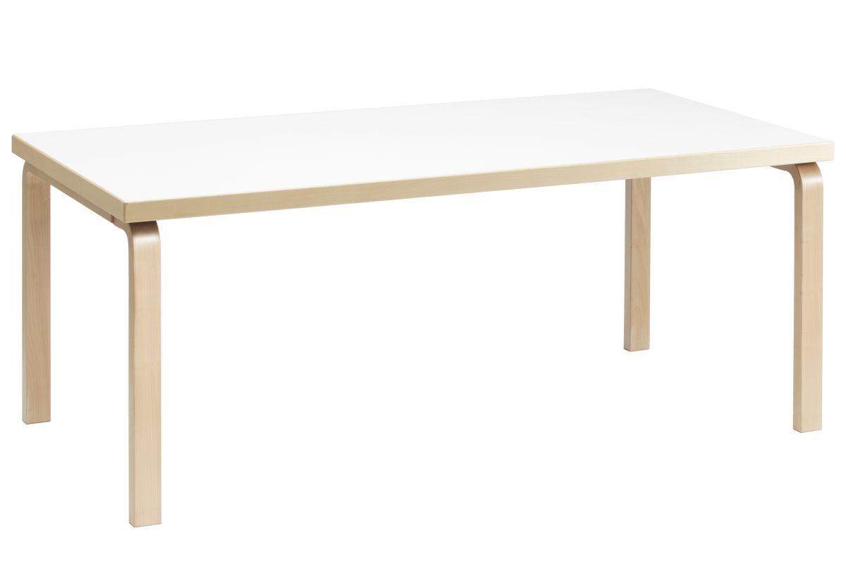 Aalto table rectangular 83 white laminate