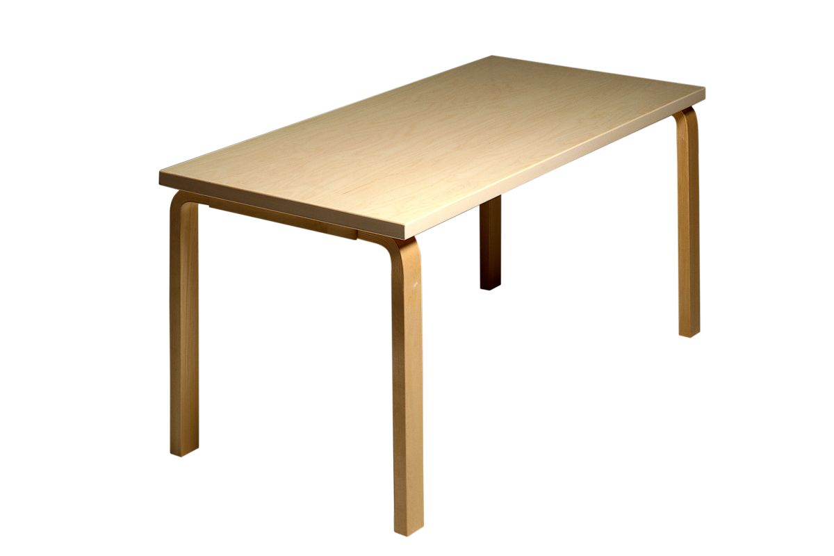 Aalto table rectangular 81A natural lacquered