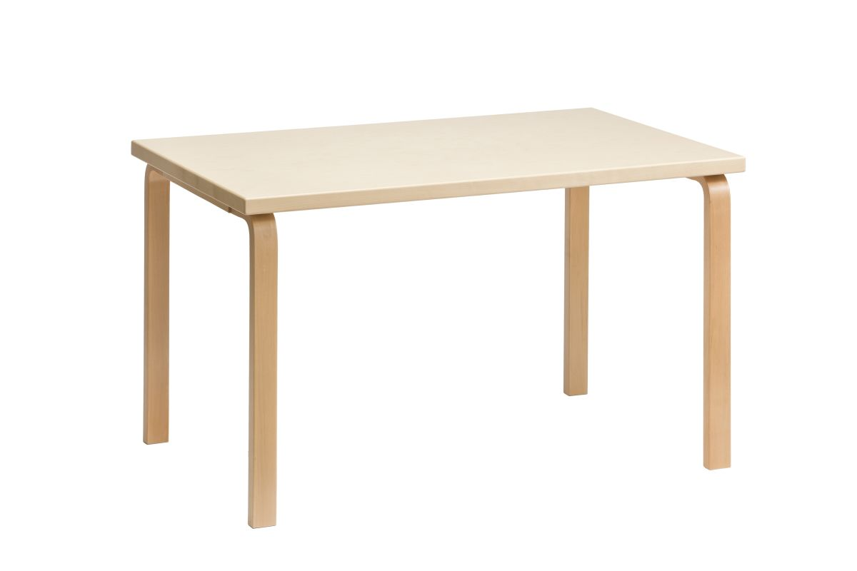 Aalto table rectangular 81B birch natural lacquered