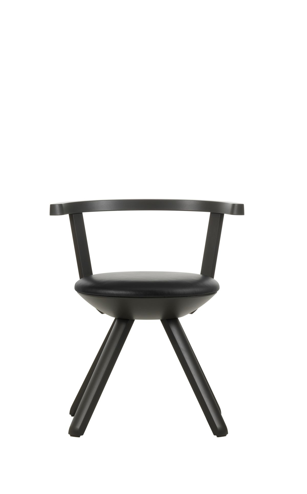 Rival-Chair-Kg001-Asphalt-Lacquer-Nero-Leather-Upholstery