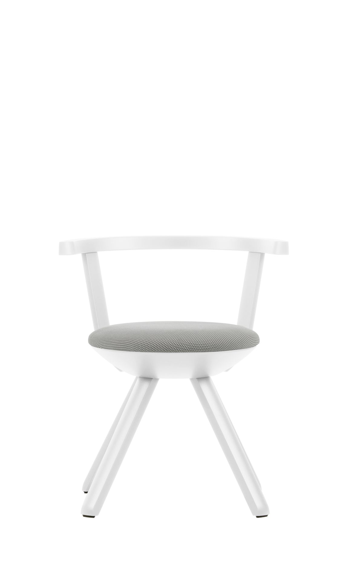 Rival-Chair-Kg001-White-Lacquer-Light-Grey-Cream-3D-Knit-Upholstery
