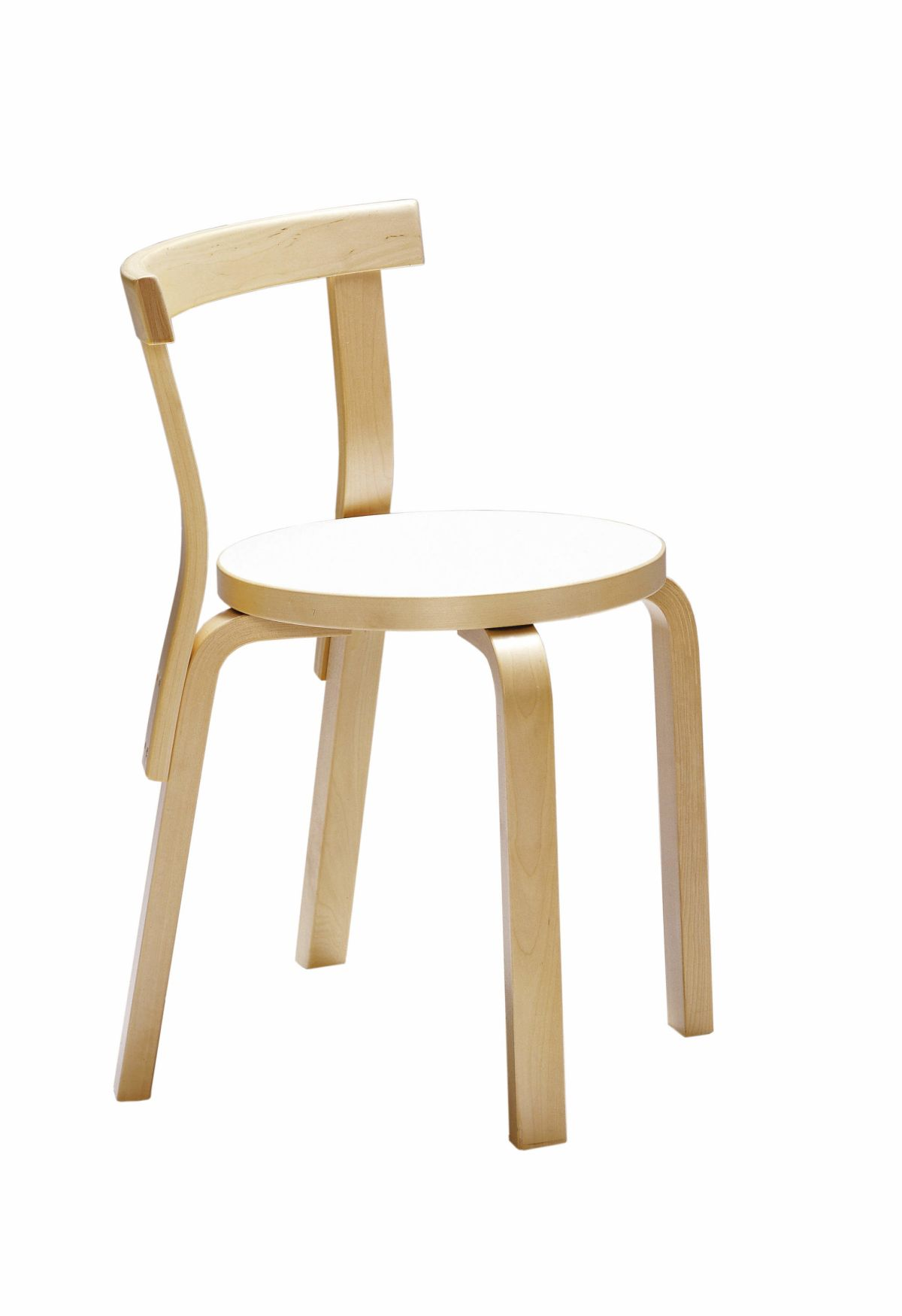 Chair 68 white laminate