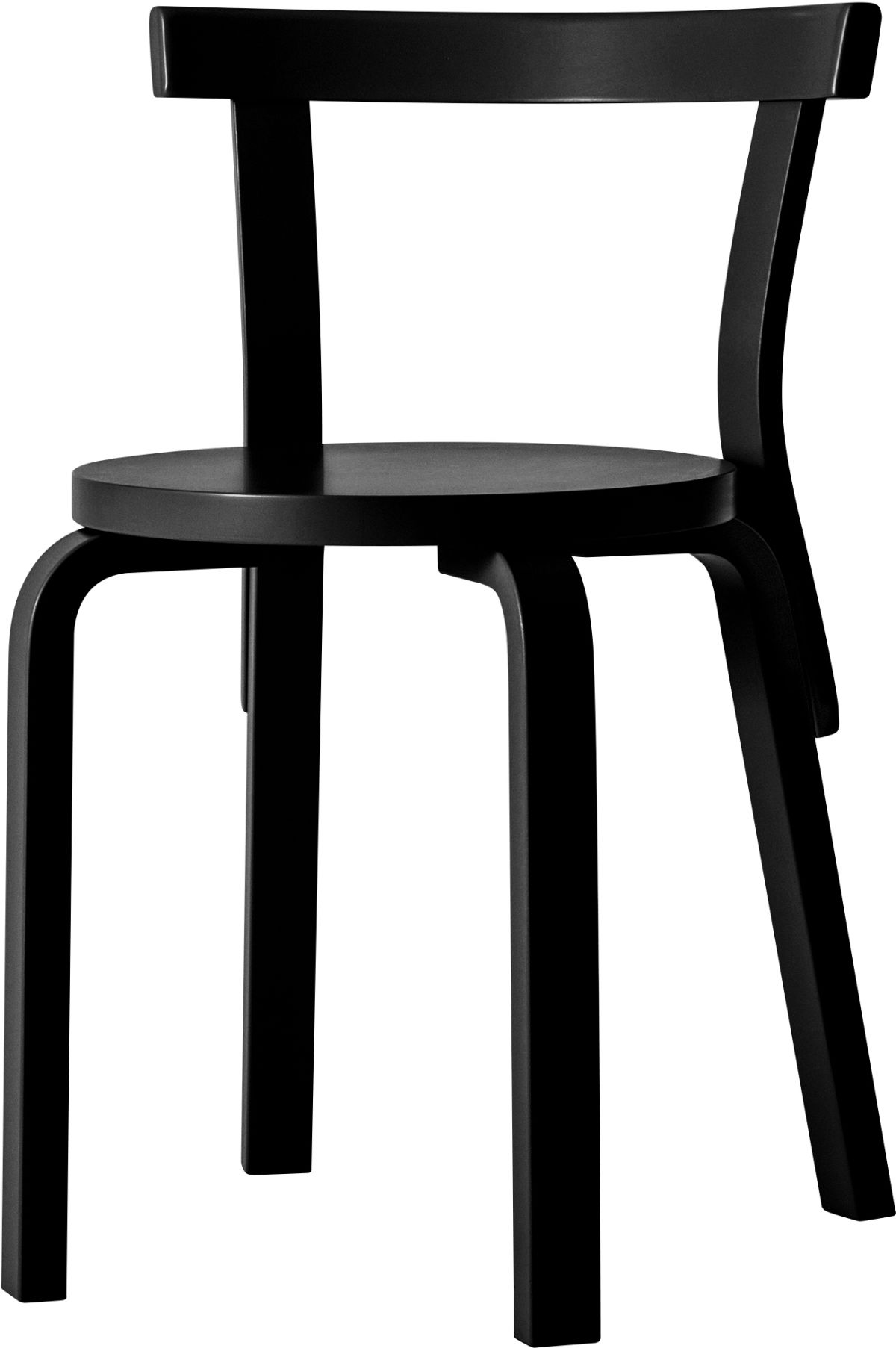 Chair 68 black lacquer