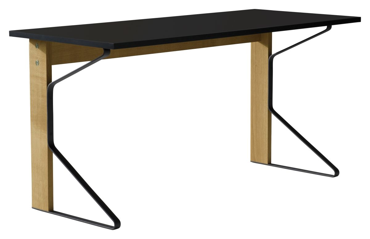Kaari Desk REB005 natural oak black HPL