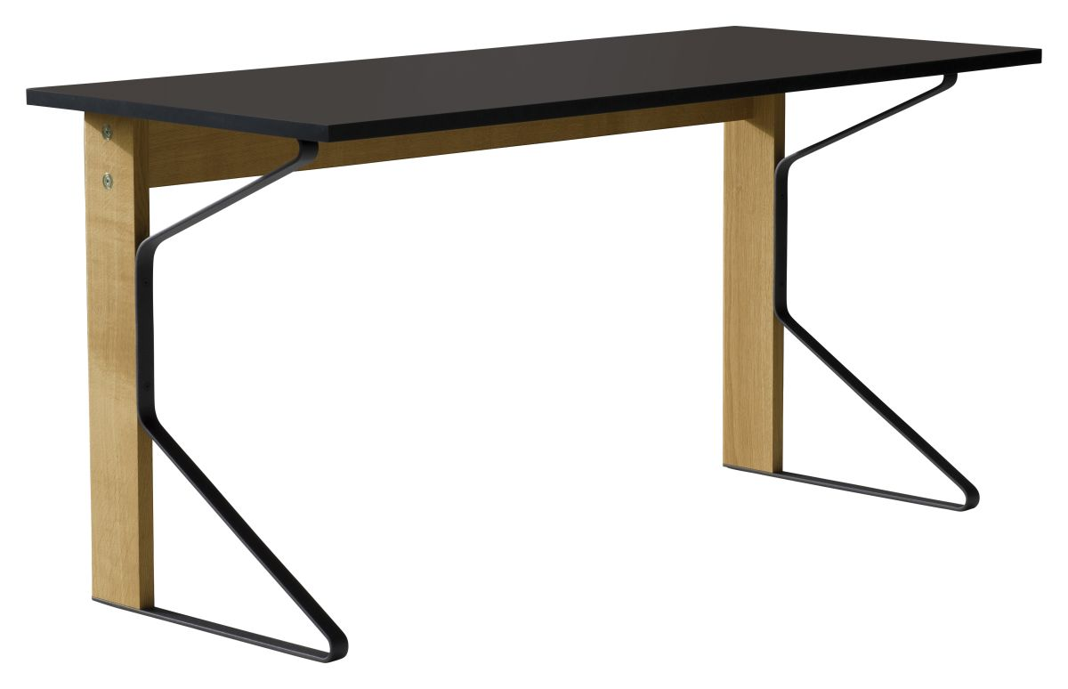 Kaari Desk REB005 natural oak black Linoleum