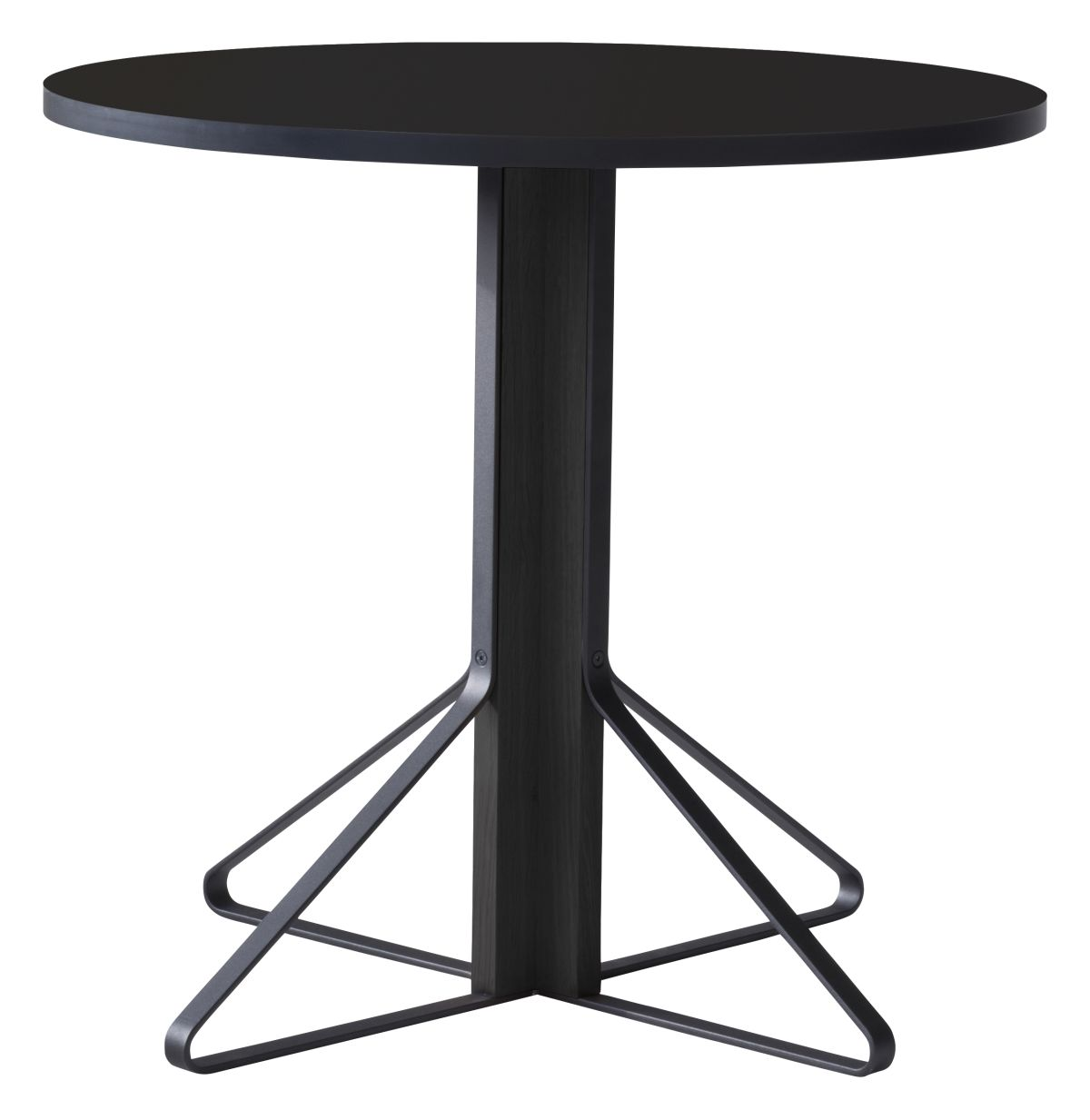 Kaari Table round REB003 black oak black HPL