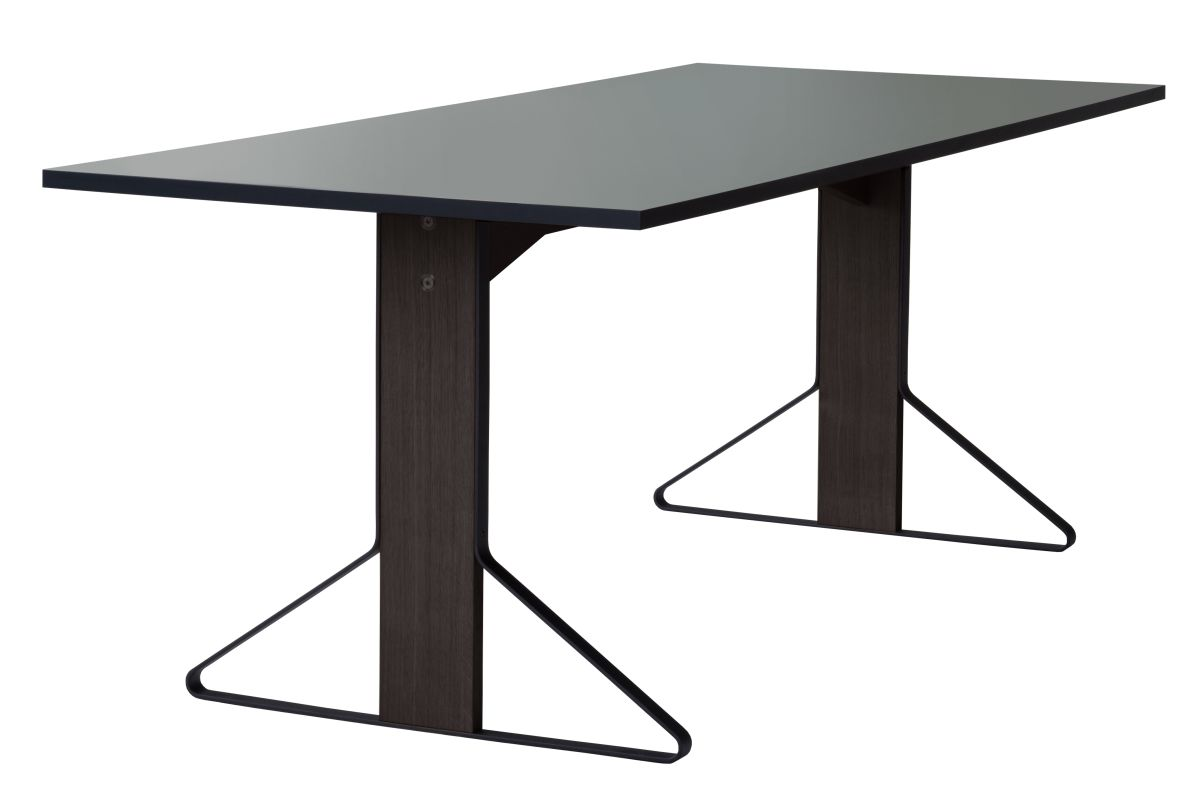Kaari Table rectangular REB001 black oak lightgrey Linoleum