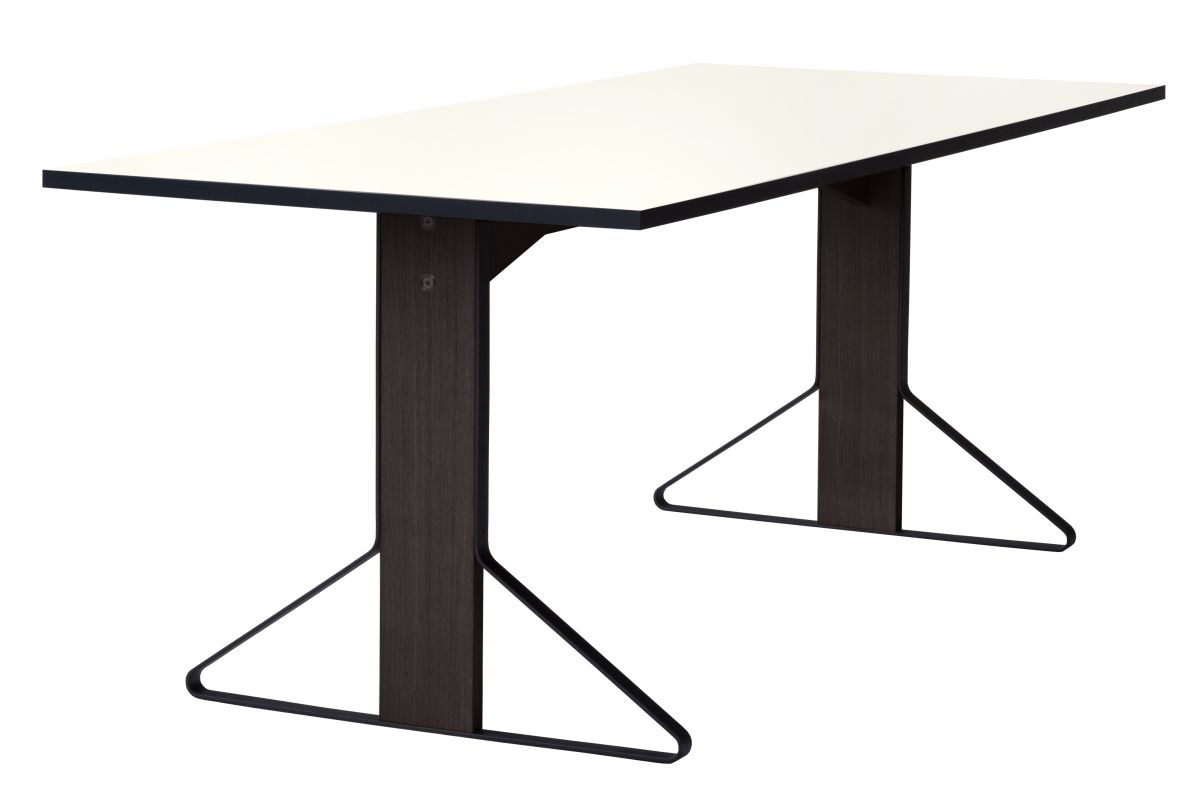 Kaari Table rectangular REB001 black oak white HPL
