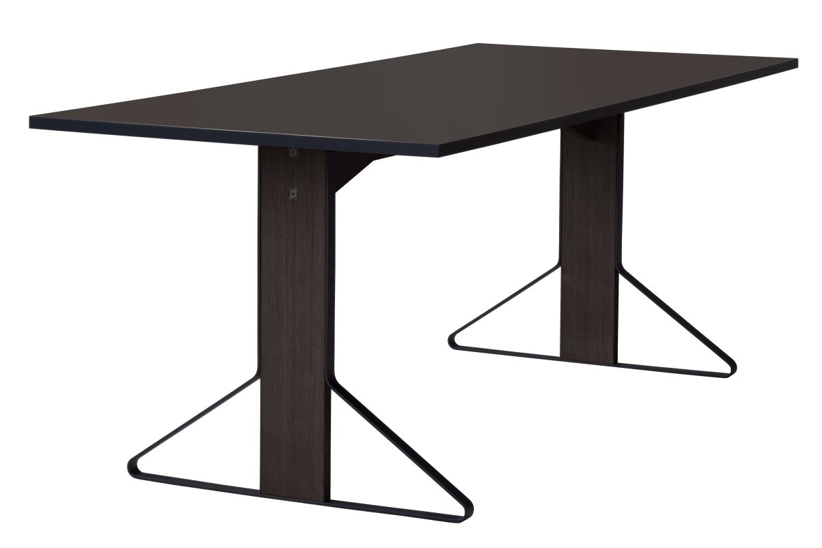 Kaari Table rectangular REB001 black oak black Linoleum