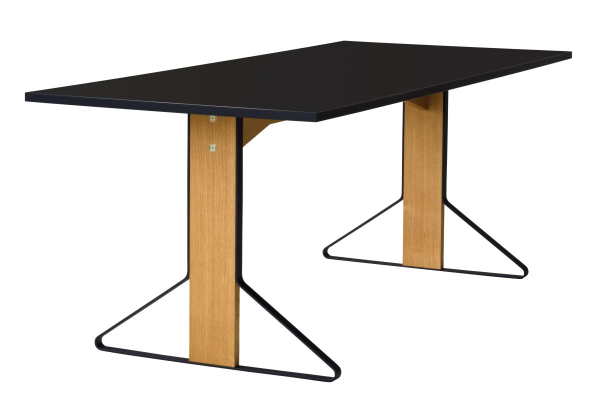 Kaari Table rectangular REB001 natural oak black HPL_WEB