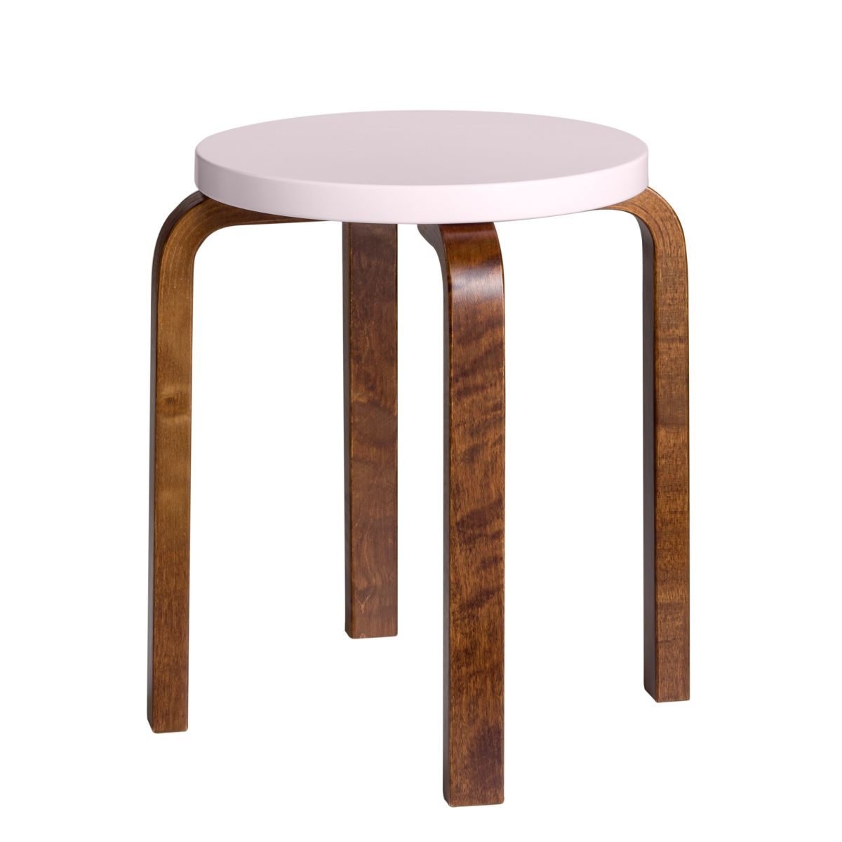 Stool E60 walnut stain pink top