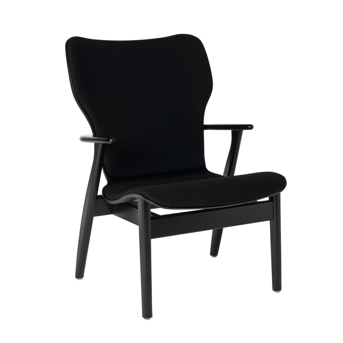 Domus Lounge Chair black upholstered