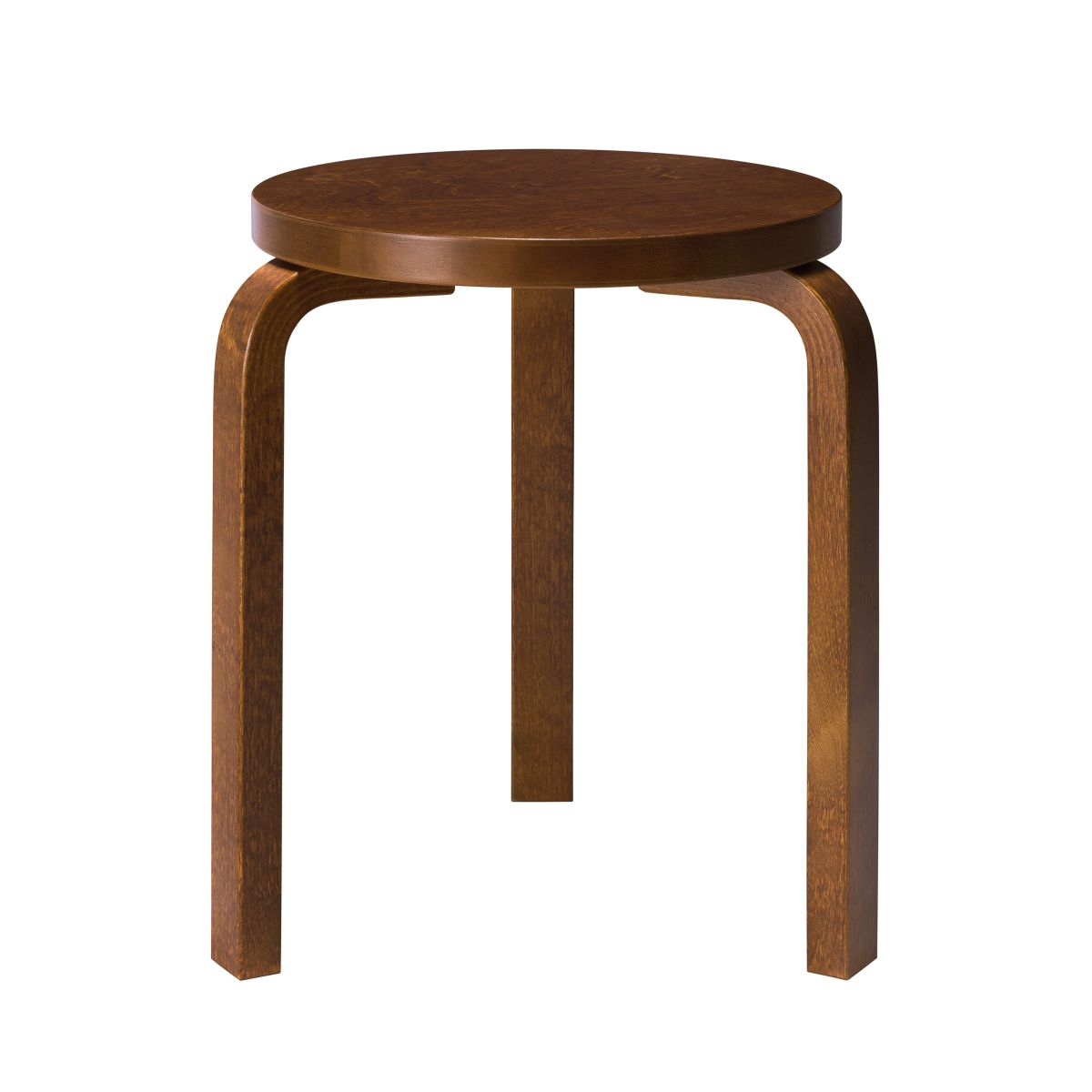 Stool 60 walnut stain
