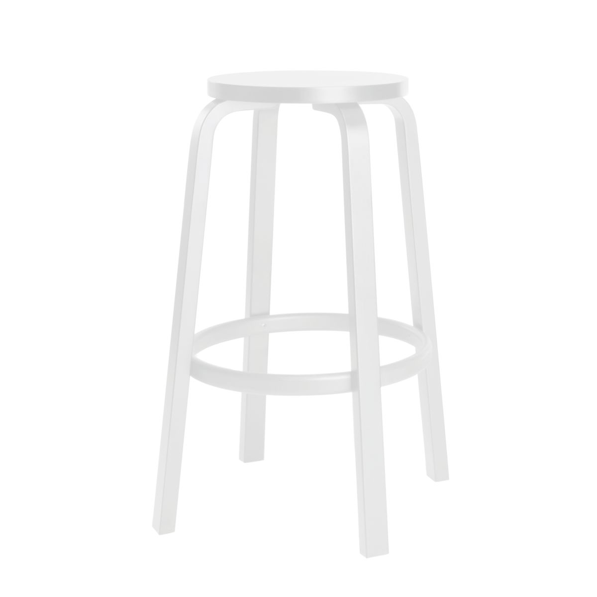 Bar Stool 64 white lacquered_cut_out