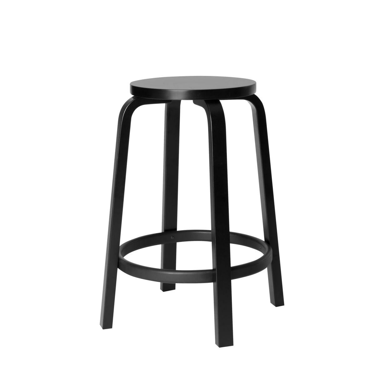 Bar Stool 64 black lacquer_cut_out_65cm