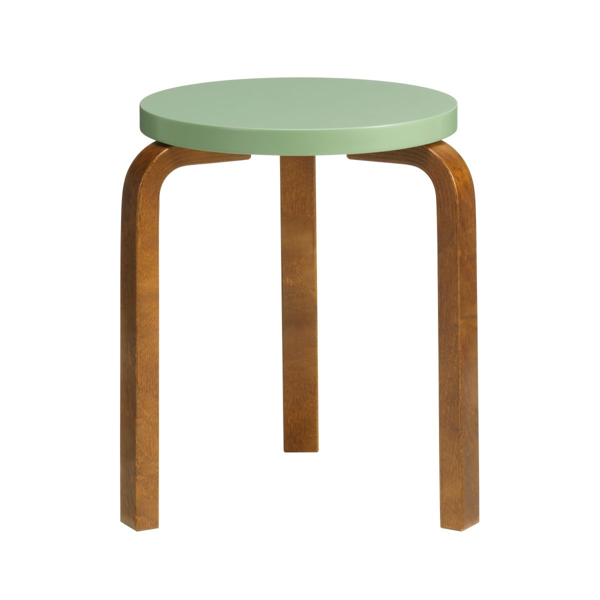 Stool_60_walnut_stain_pale_green_lacquer_F