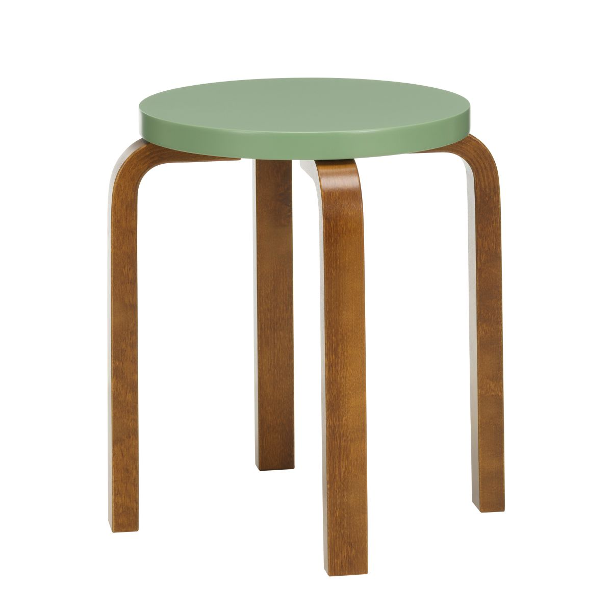 Stool_E60_walnut_stain_pale_green_lacquer_F