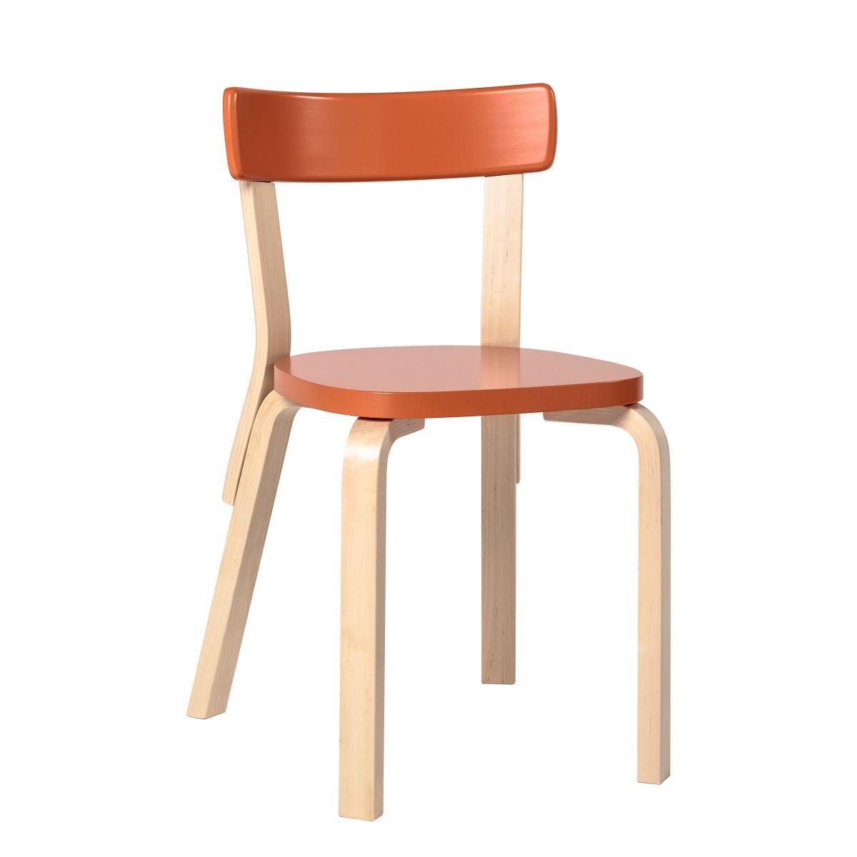 Chair 69 orange lacquer seat