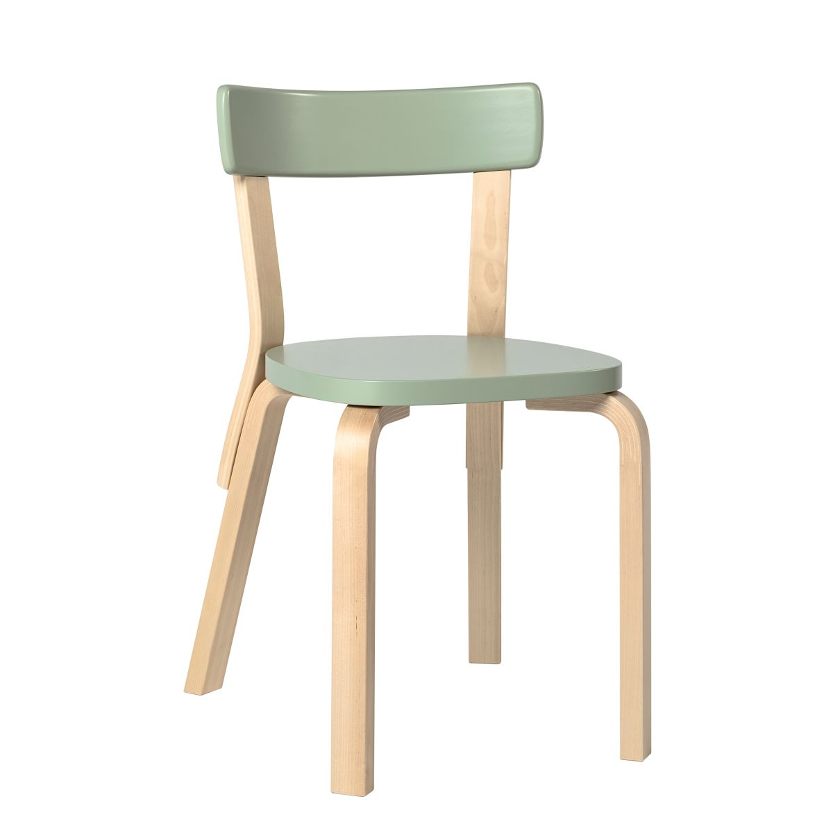 Chair 69 green lacquer seat
