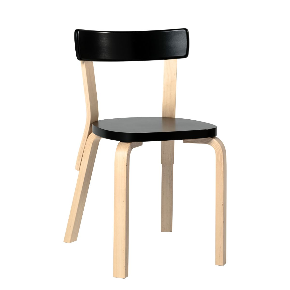 Chair 69 black lacquer seat