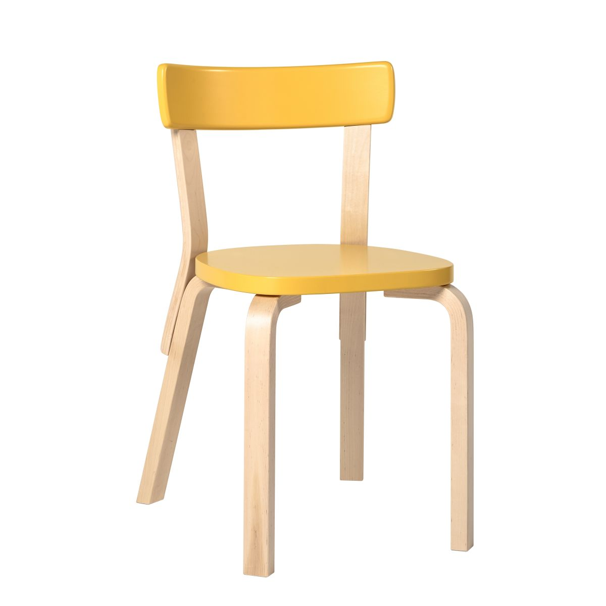 Chair 69 yellow lacquer seat