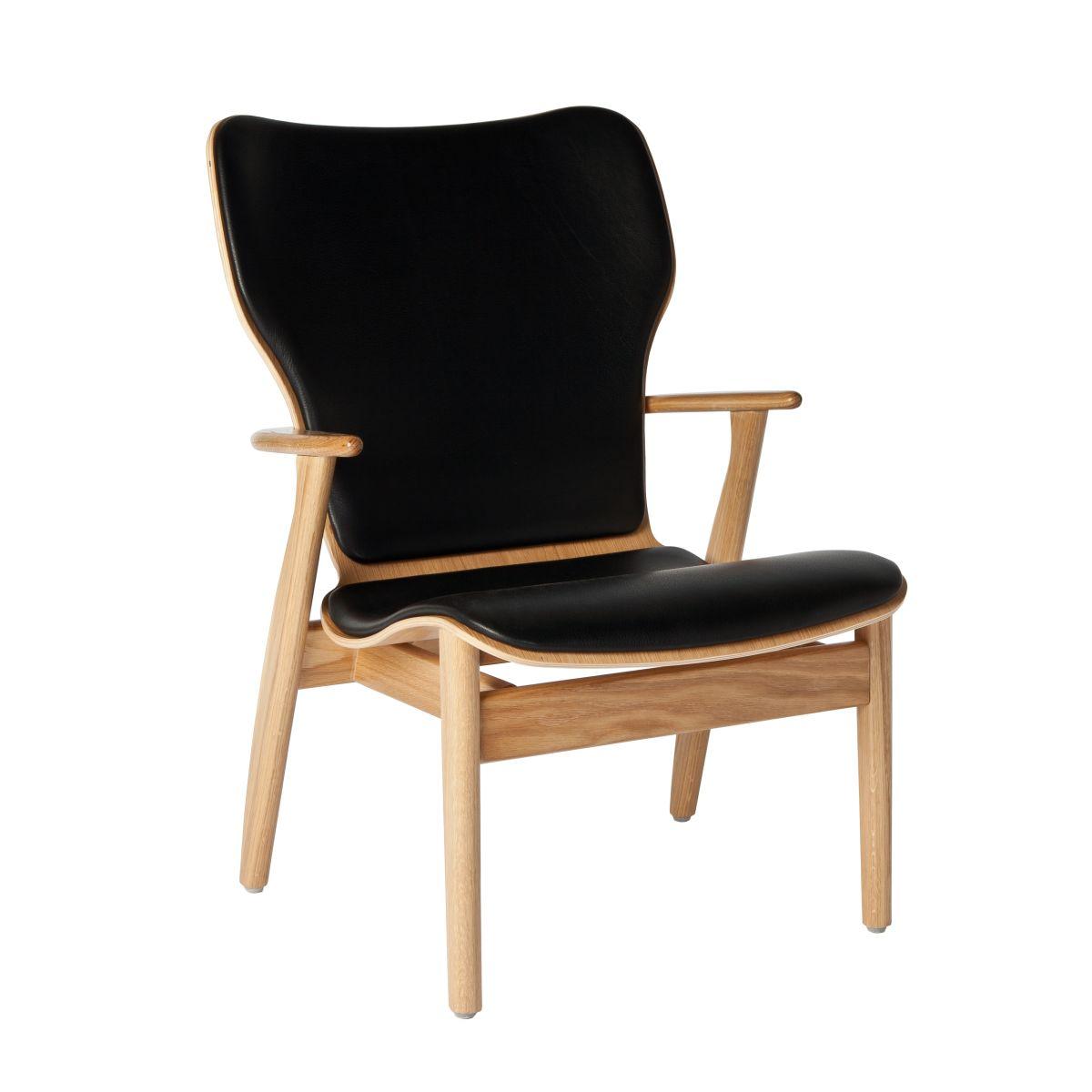 Domus Lounge Chair Oak Upholstered_WEB