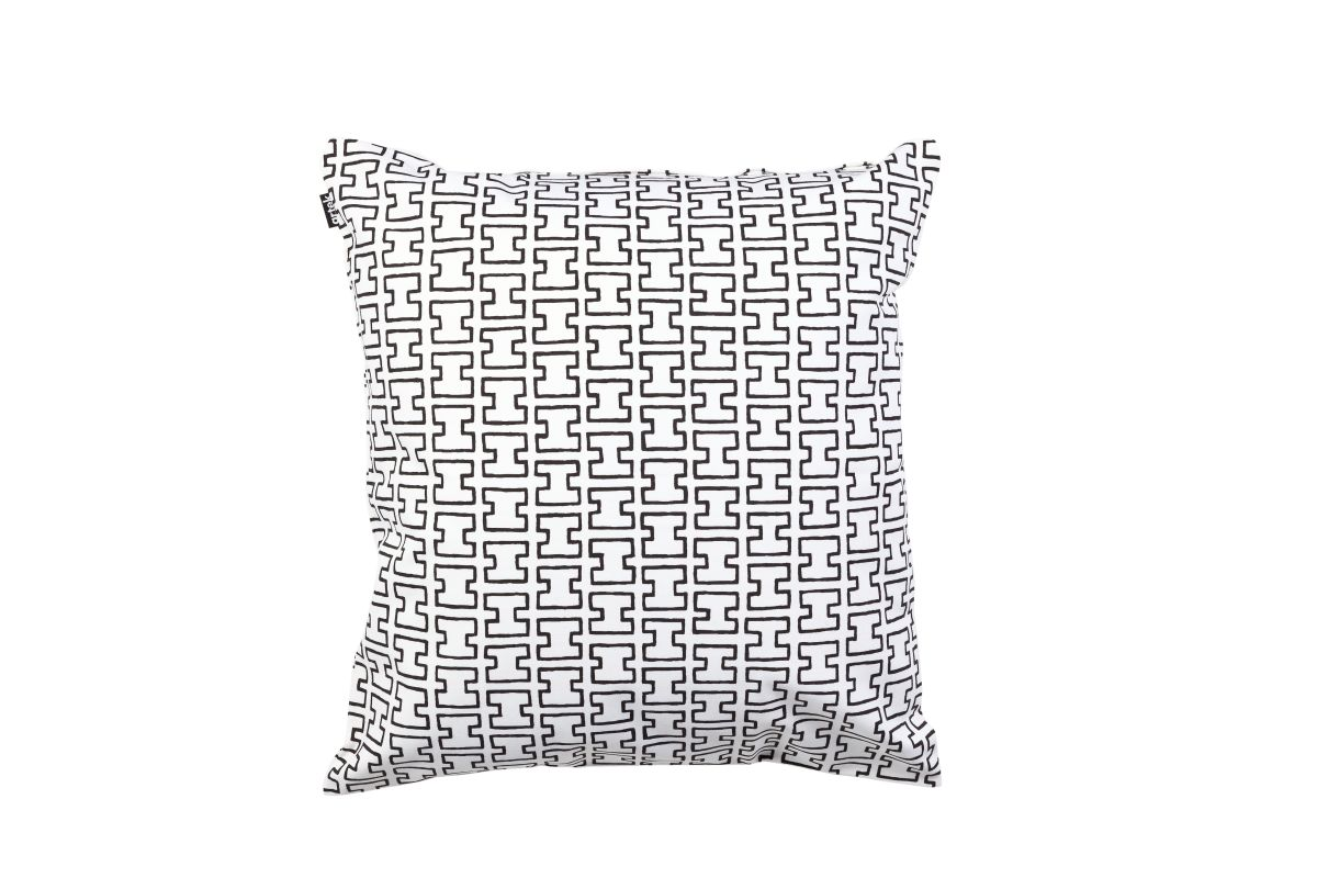 H55 Cushion cover white / black 40x40