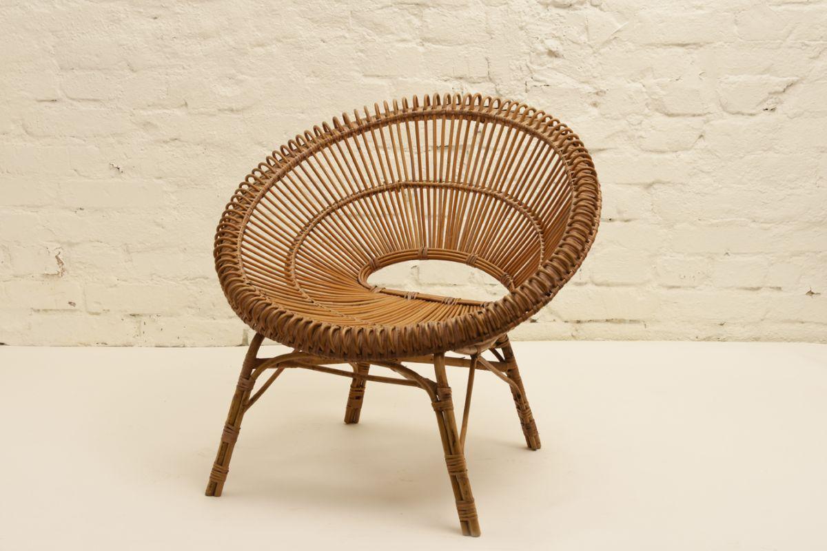 Albini Franco Round Rattan Chair
