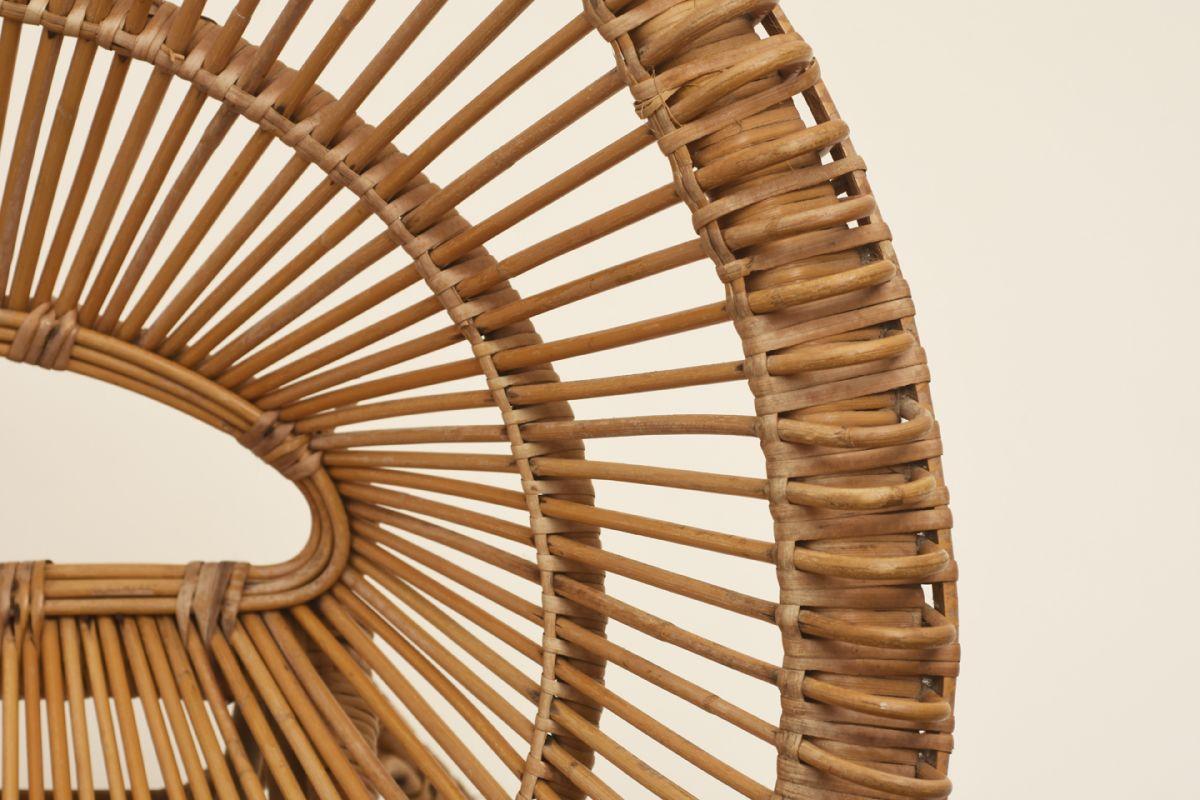 Albini Franco Round Rattan Chair Detail1