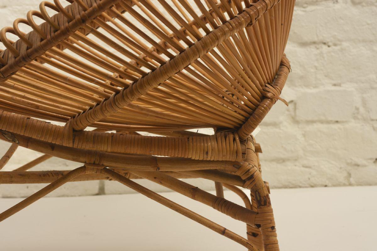 Albini Franco Round Rattan Chair Detail3