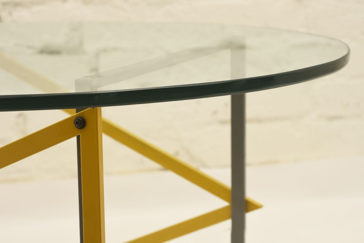 Kukkapuro Yrjö Round Glass Table Detail2