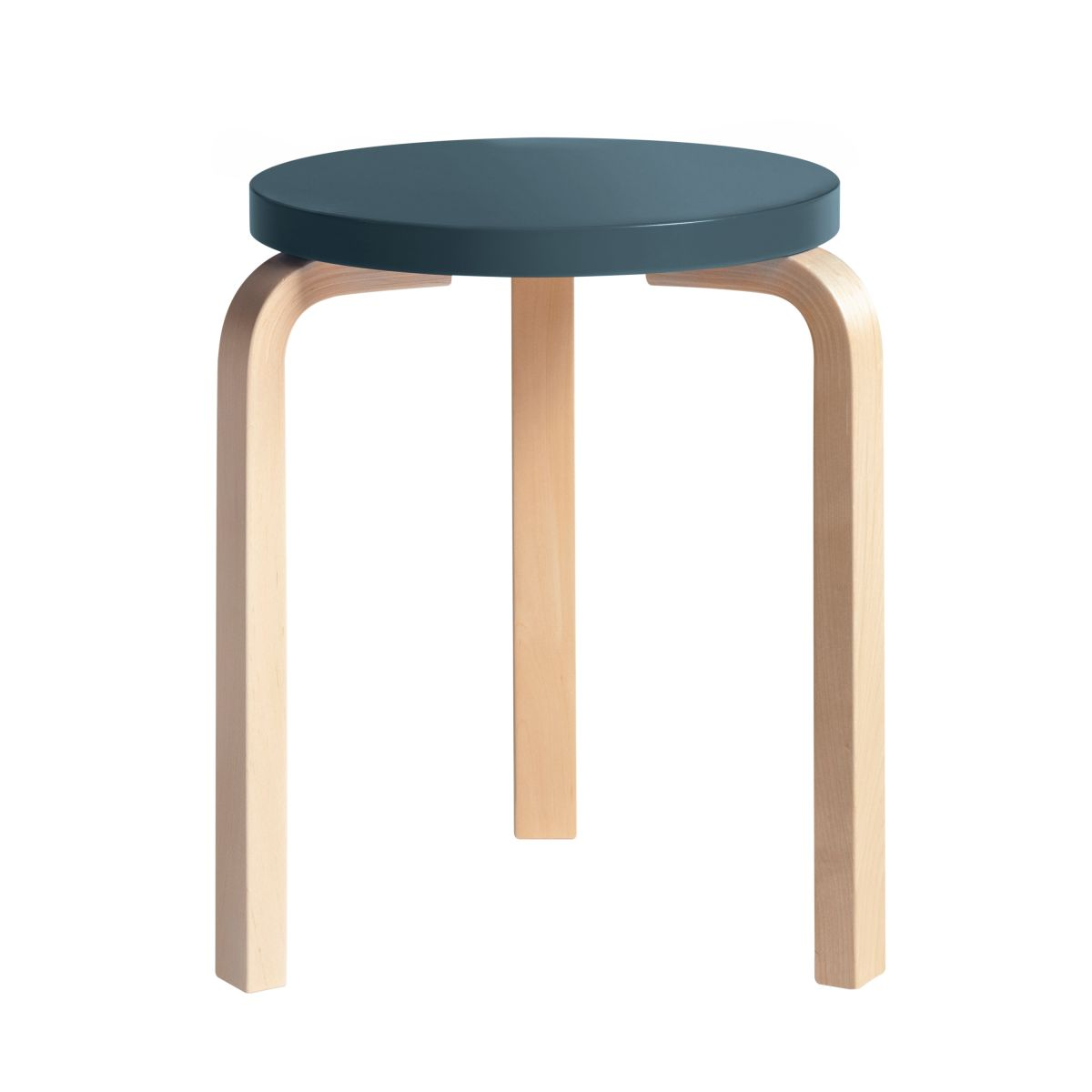 Stool 60 Clear Lacquer  Top Blue 2479601