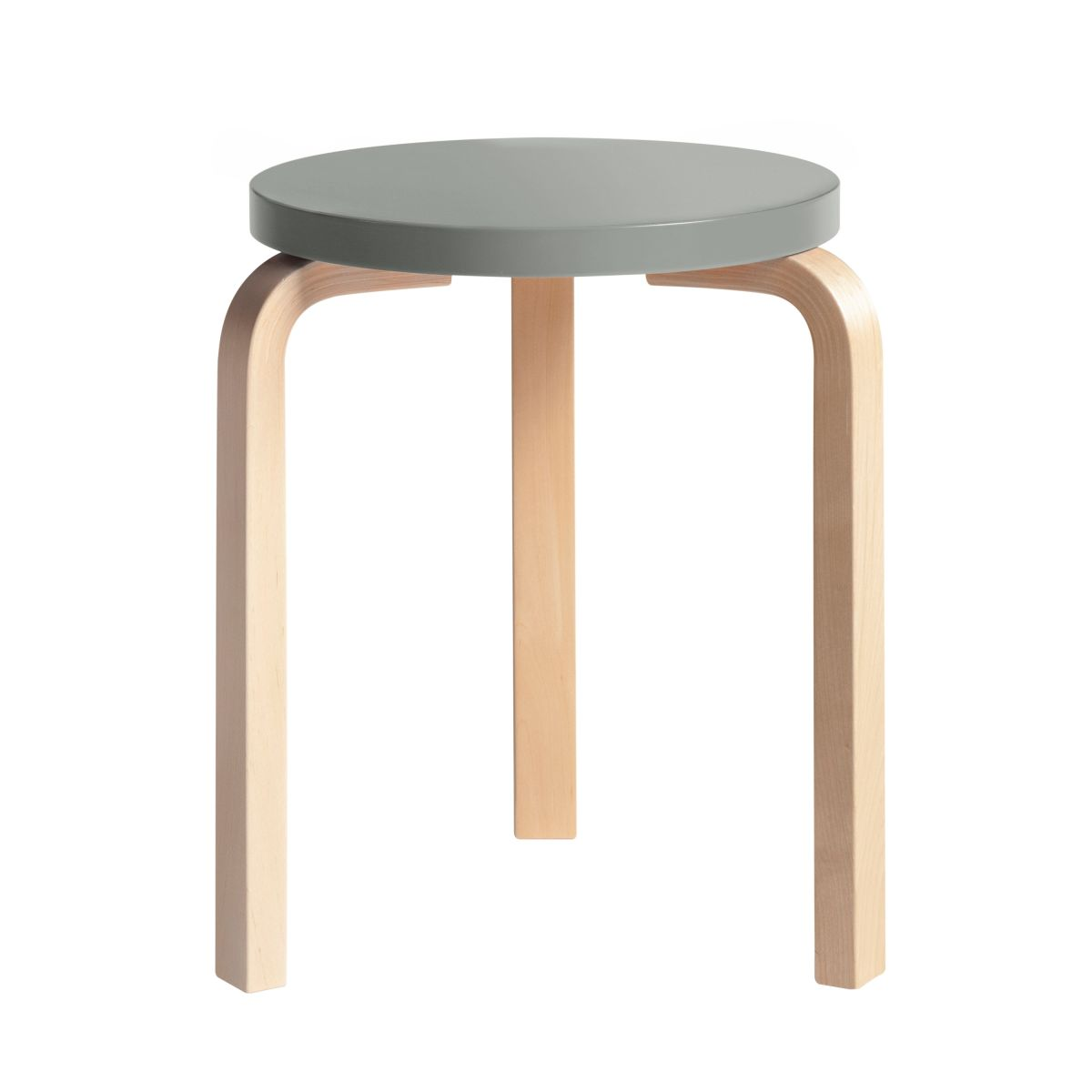 Stool 60 Clear Lacquer  Top Grey 2479602