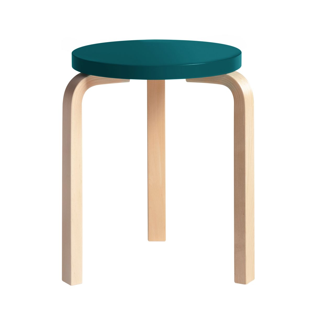 Stool 60 Clear Lacquer  Top Petrol 2479603