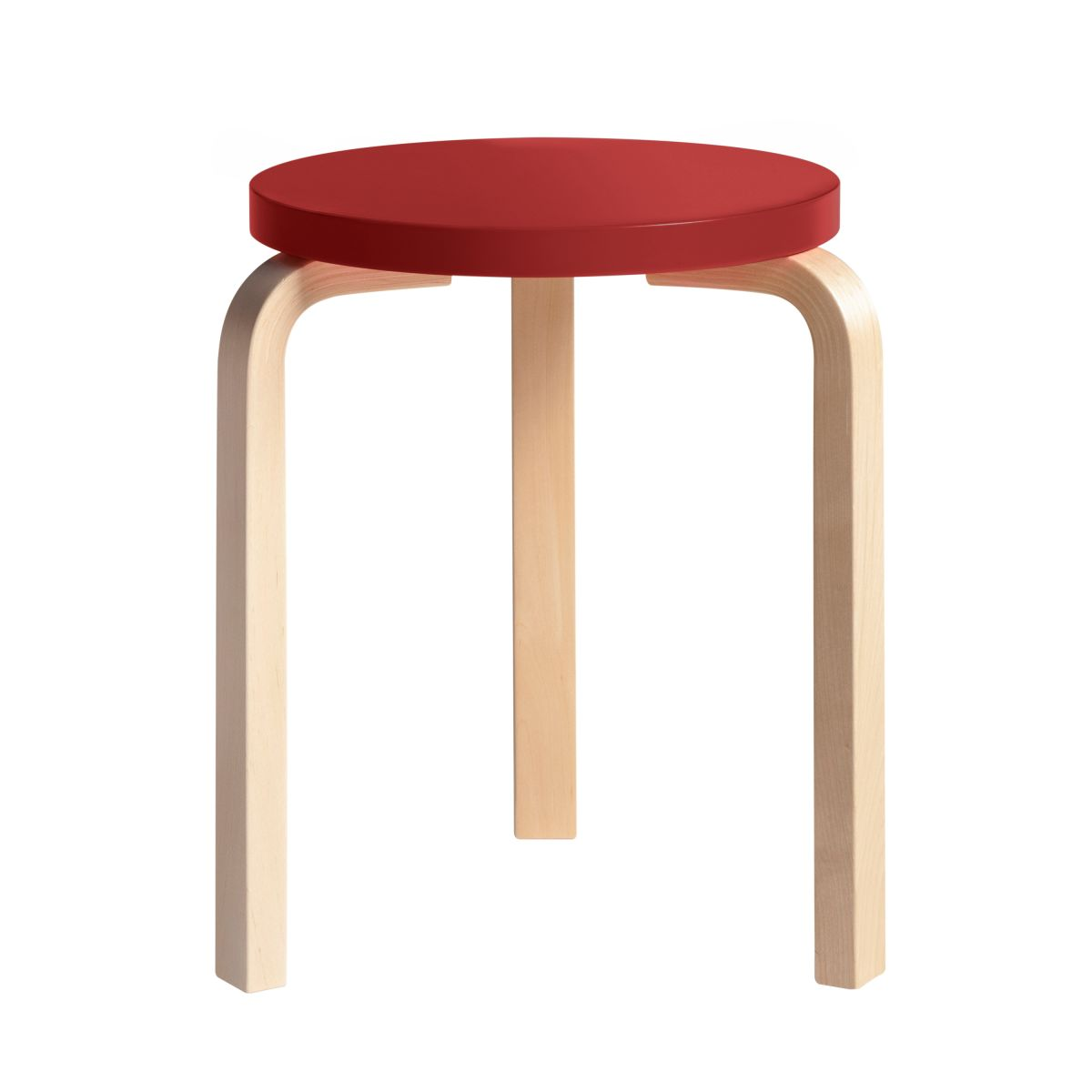 Stool 60 Clear Lacquer  Top Red 2479604