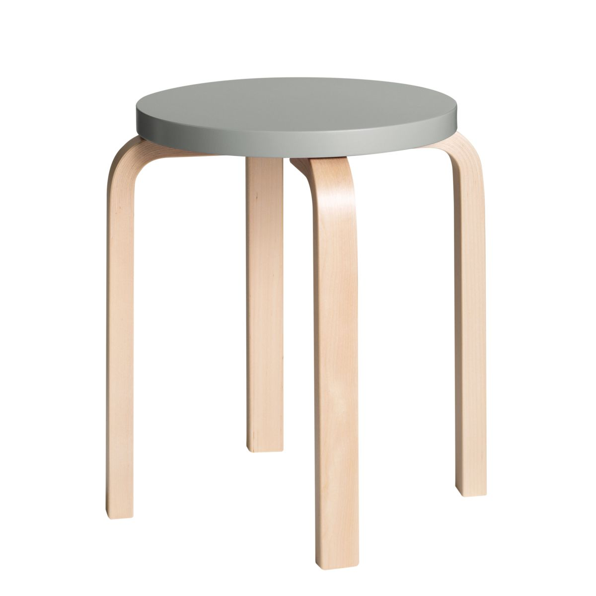 Stool E60 Clear Lacquer Top Grey 2479609
