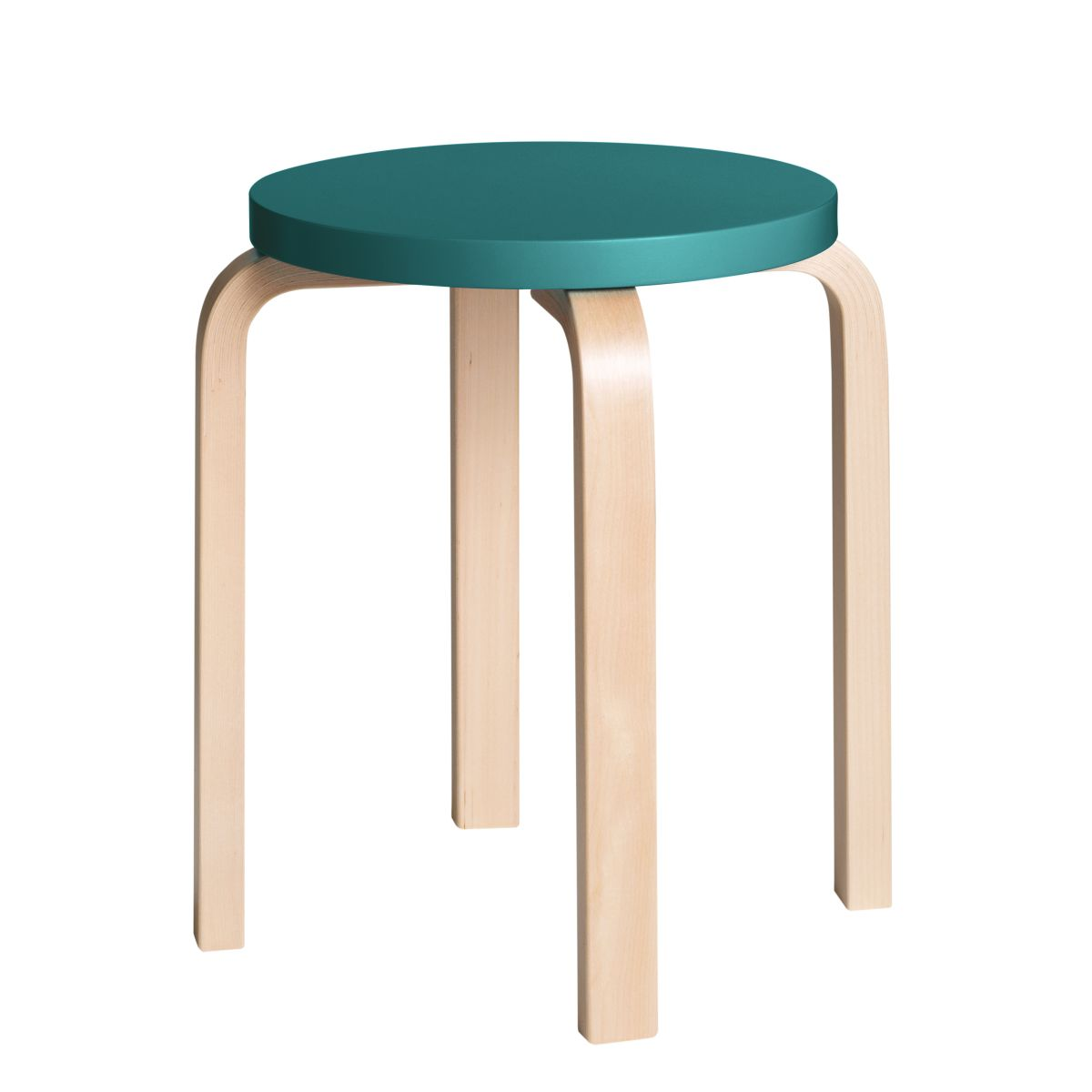 Stool E60 Clear Lacquer Top Petrol 2479610