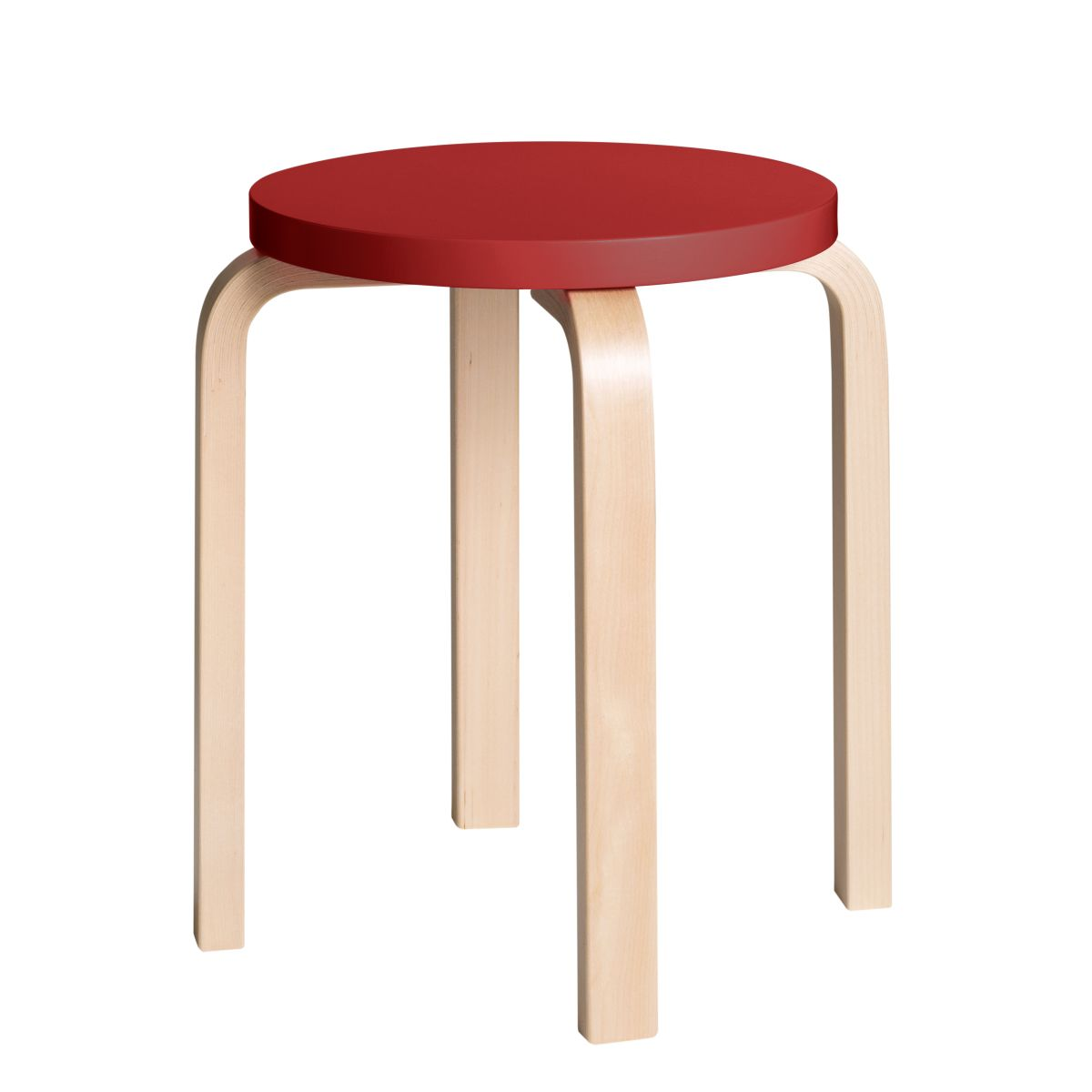 Stool E60 Clear Lacquer Top Red 2479611